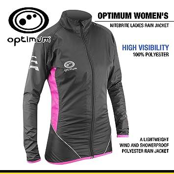 56edf6f774a Optimum Women s Nitebrite Rain Jacket  Amazon.co.uk  Sports   Outdoors