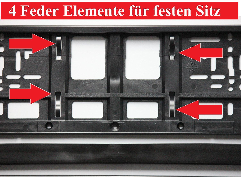 2 x Kennzeichenhalter SCHWARZ Kennzeichenhalterung im Set mit 4 ...
