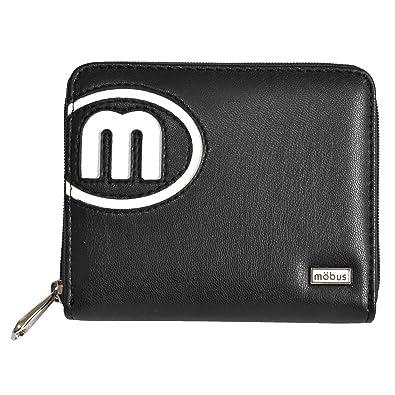 f6355f3eb97c Amazon | [モーブス] MOBUS 二つ折り ラウンドファスナー 財布 ブラック ...