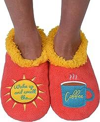 09ba9d613ab Snoozies Womens Classic Splitz Applique Slipper Socks