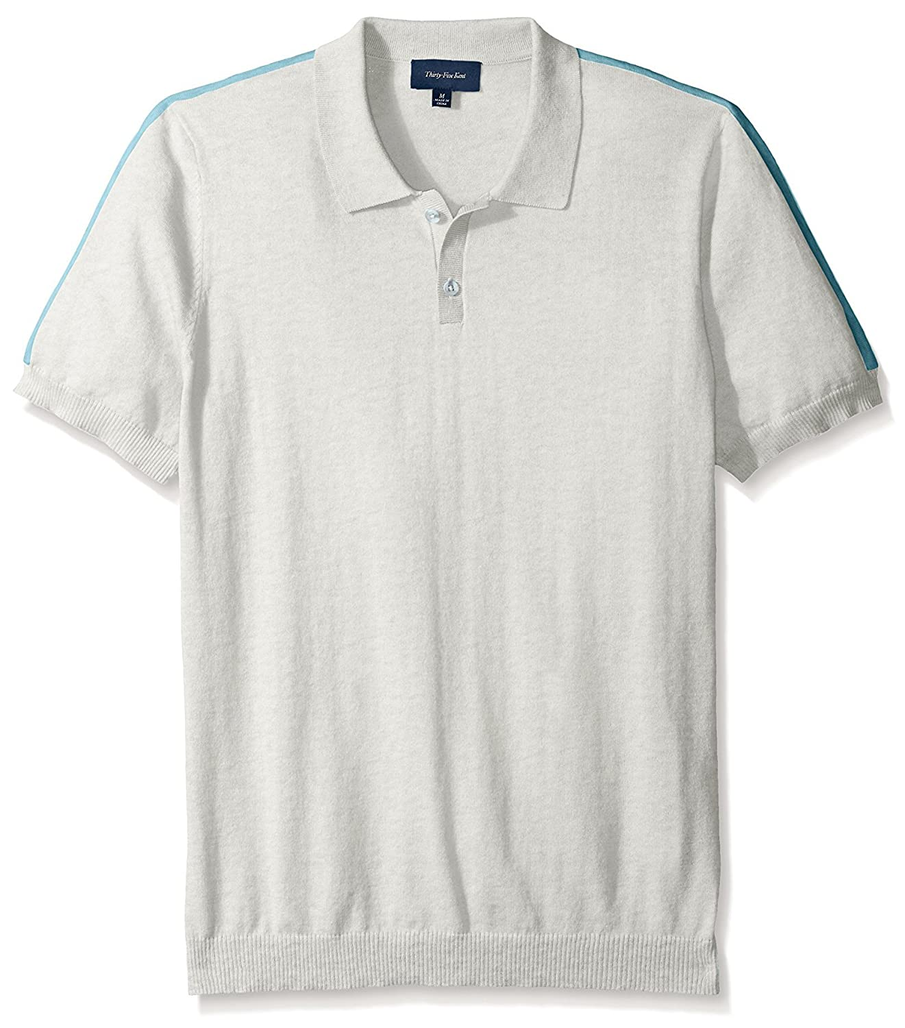 Retro Clothing for Men | Vintage Men's Fashion Thirty Five Kent Mens Brushed Cotton Short Sleeve Polo $44.00 AT vintagedancer.com