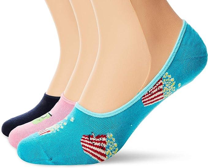 Happy Socks 3-pack Popcorn Liner Sock Calcetines, Multicolor (Multicolour 650), 7/10 (Talla del fabricante: 41-46) (Pack de 3) para Hombre: Amazon.es: Ropa y accesorios