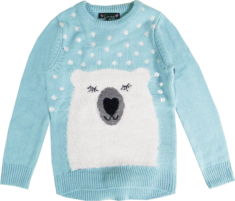 Love Knitwear Girls Penguin Or Polar Bear Sweater