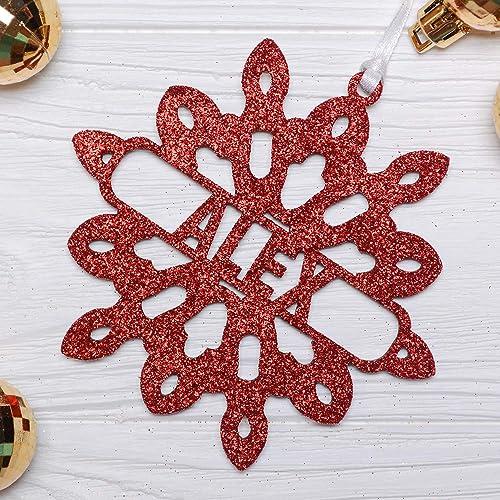 amazon com wood personalized snowflake red glitter snowflake