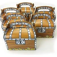 (1 Dozen) - Tytroy Pirate Treasure Chest Goodie Candy Box Decoration Party Favour (1 Dozen)