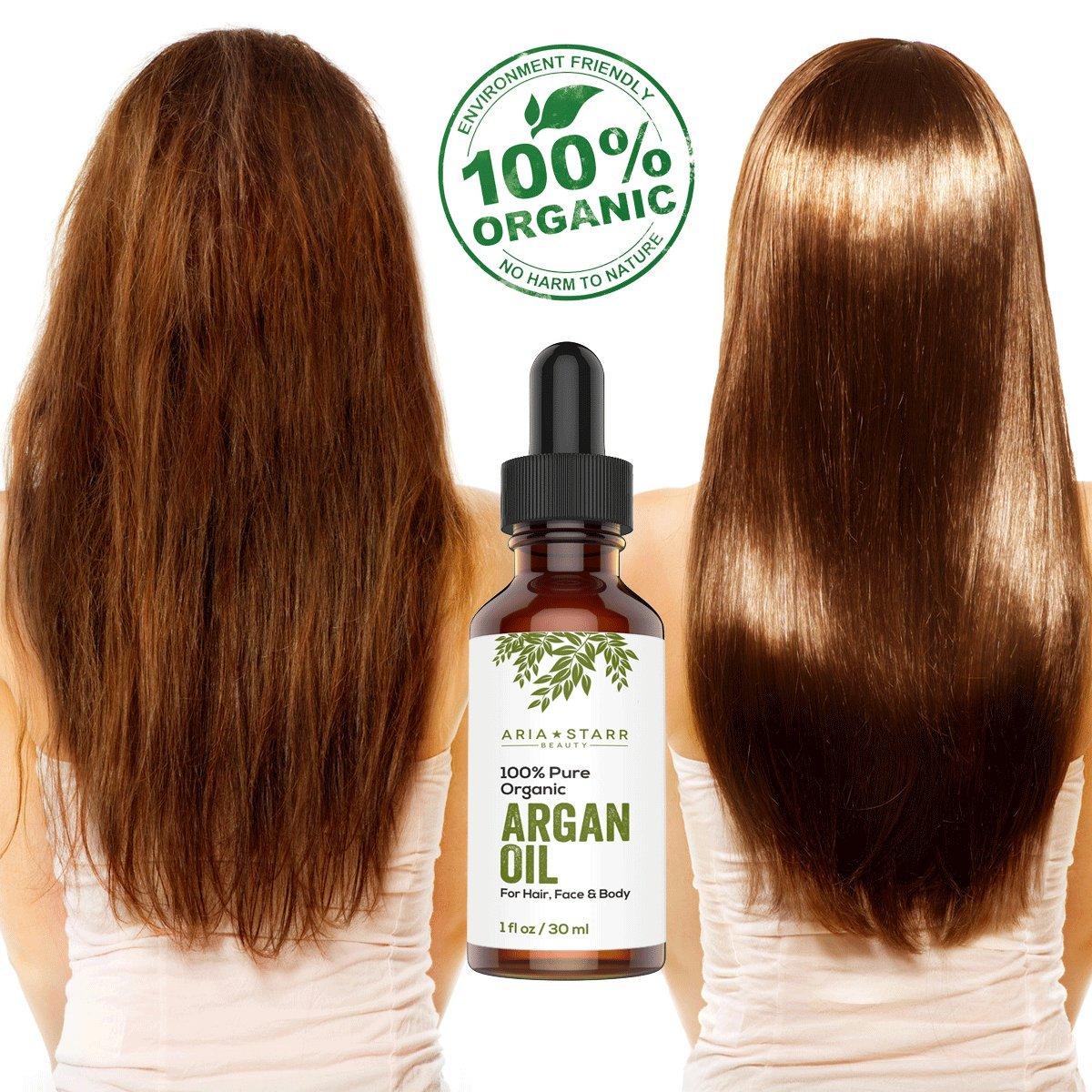 Amazon.com : Aria Starr Beauty ORGANIC Argan Oil For Hair, Skin ...