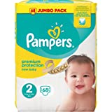 Pampers - New Baby - Couches Taille 2 (3-6kg/Mini) - Jumbo Pack (x68 couches)