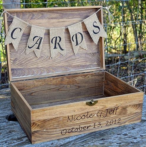 Amazon.com: Rustic Wooden Card Box - Rustic Wedding Card Box ...