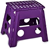Folding Step Stool, 13 Inch - The Anti-Skid Step Stool is Sturdy to Support Adults and Safe Enough for Kids. Opens Easy with