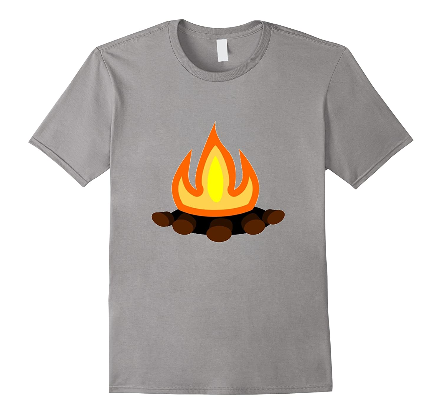 Campfire Graphic t-shirt Tent Camping Cook Marshmallows-TH
