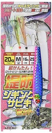 ハヤブサ(Hayabusa)ジギングサビキ堤防ジギングサビキセット3本鈎HA28120gM8-4-6の画像