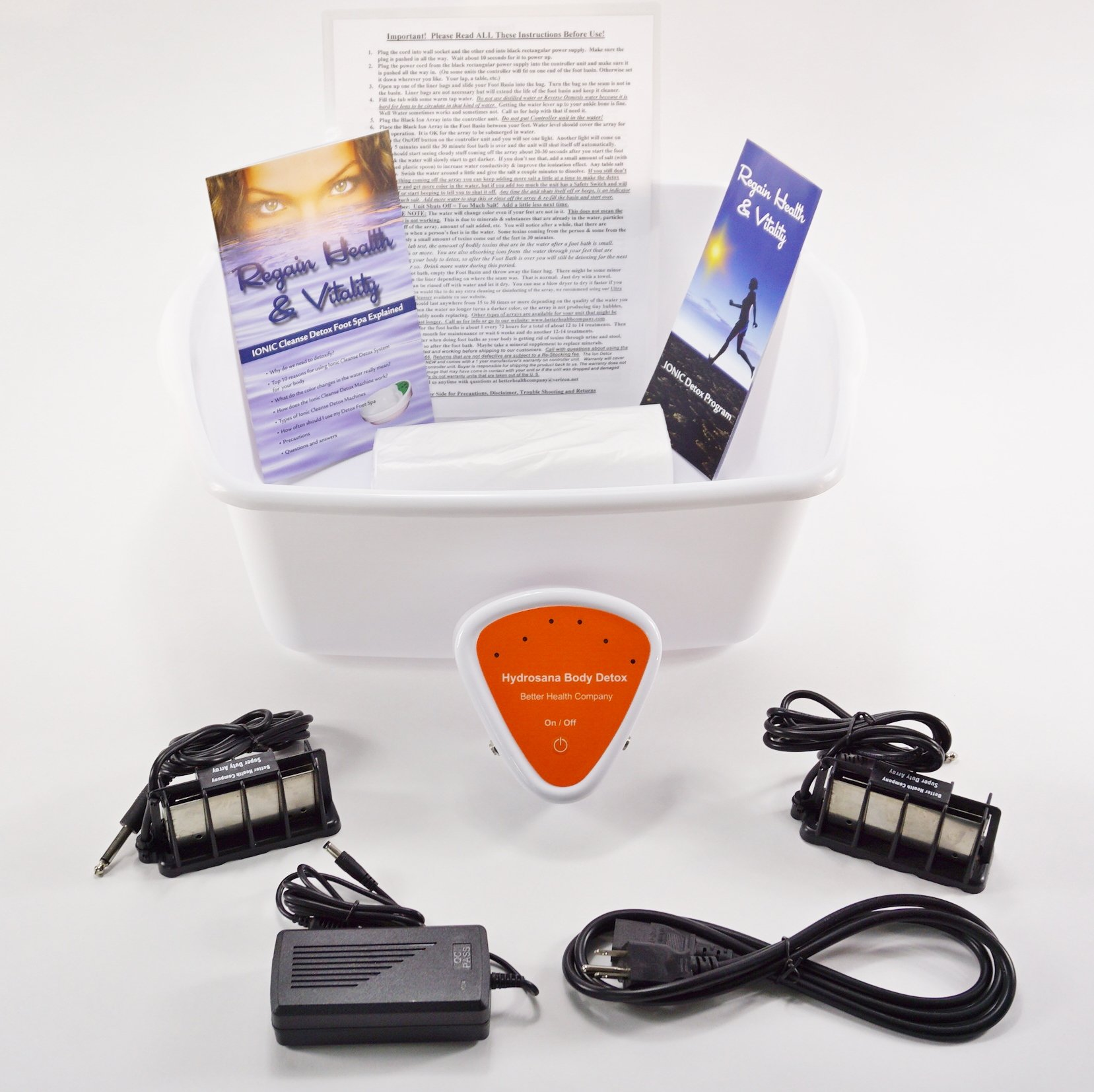 Foot Spa - Ionic Foot Cleanse - Foot Spa Bath. Detox Foot Spa Machine. Detox Foot Spa with Upgraded Stronger Super Duty Arrays. (A $60.00 Value.)