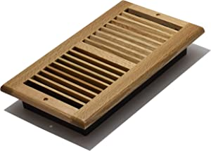 Decor Grates WL612W-N 6-Inch by 12-Inch Wood Wall Register, Natural Oak