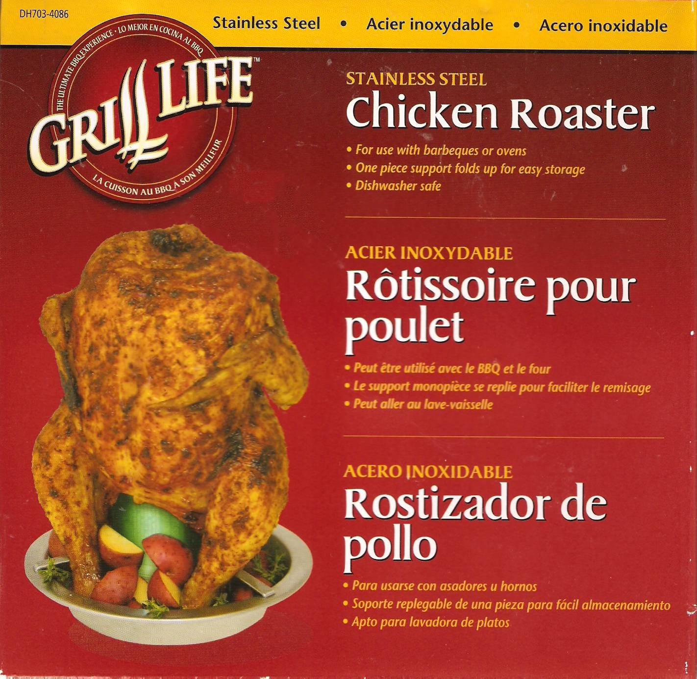 Grill Life Stainless Steel Chicken Roaster