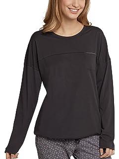 SCHIESSER Damen Shirt langarm Jersey Brusttasche espresso-braun