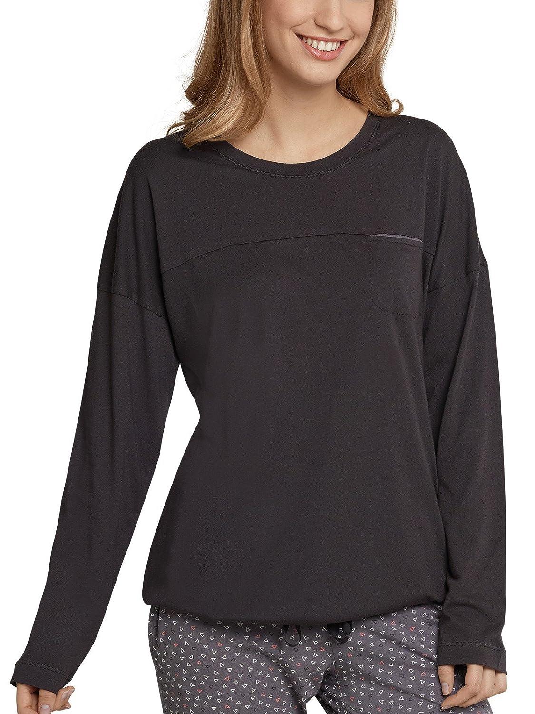 cf772a07d5ee04 SCHIESSER Damen Shirt langarm Jersey Brusttasche espresso-braun Kostenloser  Versand