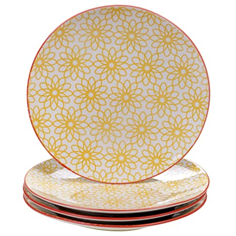 Chelsea Mix and Match Daisy Dots 8.5-inch Dessert Plates (Set of 4)  sc 1 st  Amazon.com & Amazon.com | Chelsea Mix and Match Daisy Dots 8.5-inch Dessert ...