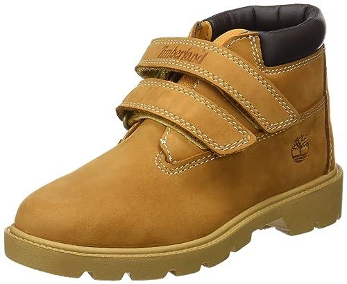 c31bd6c1526 Timberland Unisex Kids' Double Strap Hook & Loop Waterproof Chukka Boots,  Yellow (Wheat