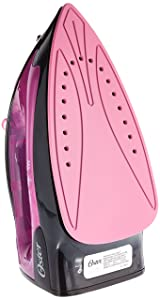 Oster GCSTBS4801P-053 Black/Pink 1200-Watt Variable Steam Iron, 220 Volts (Not for USA-European Cord)