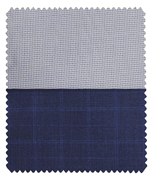 24dd87805 Combo of Raymond Dark Blue Broad Checks Trouser Fabric with Exquisite White  Cotton Blend Structured Shirt Fabric (Unstitched)  Amazon.in  Clothing   ...