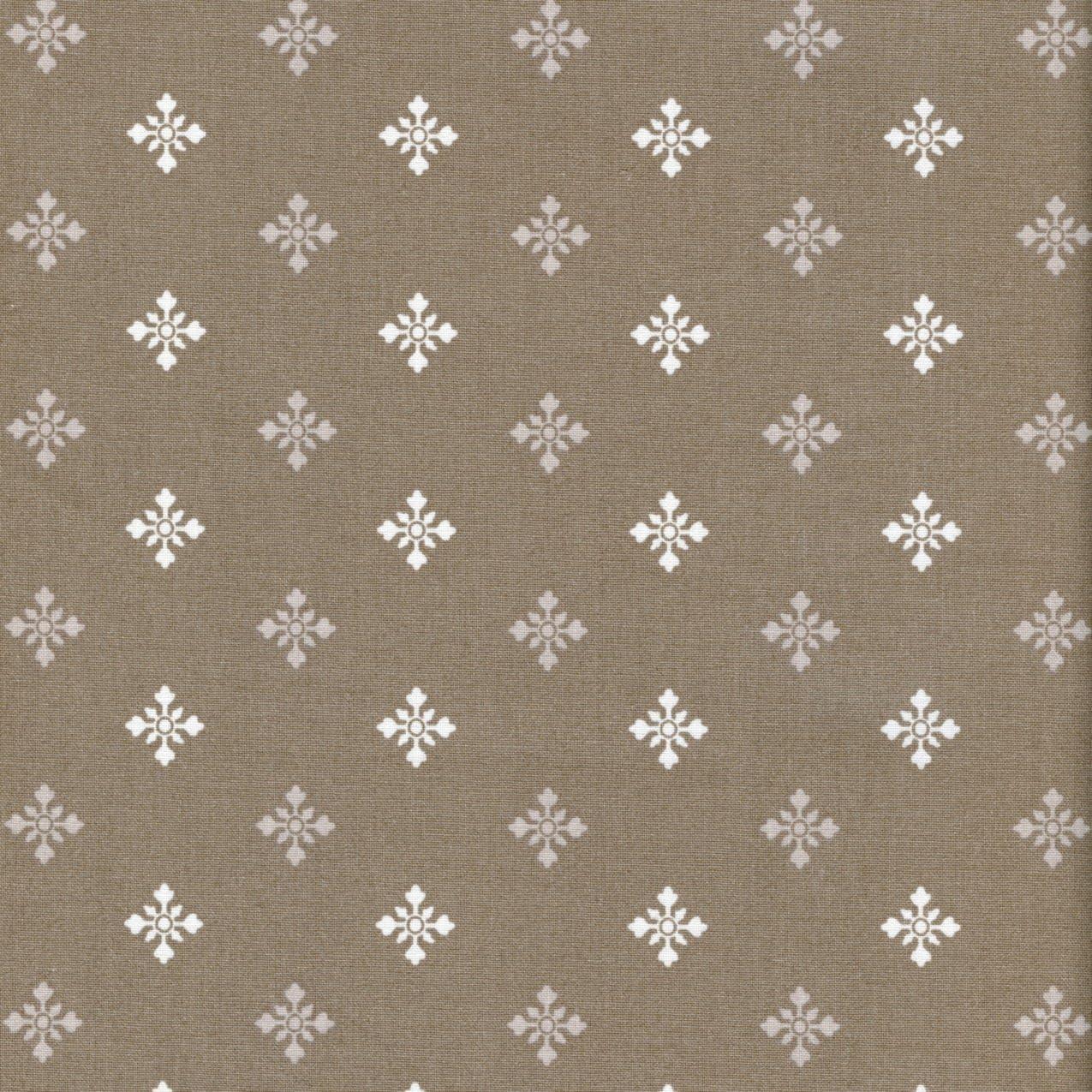 Hearts /& Snowflakes Textiles français French Christmas Fabric Ecru Alpine