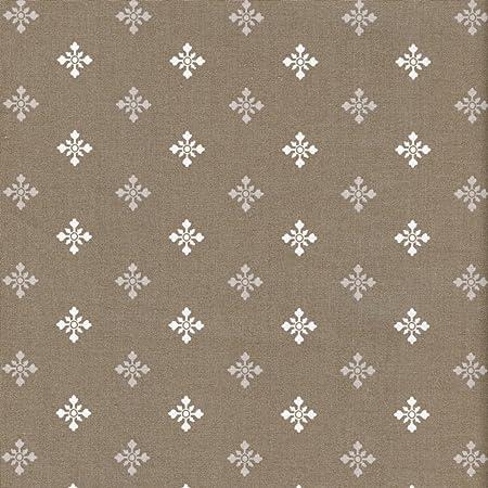 Tela Navidad - Copos de nieve (color beige taupe, con blanco y ...