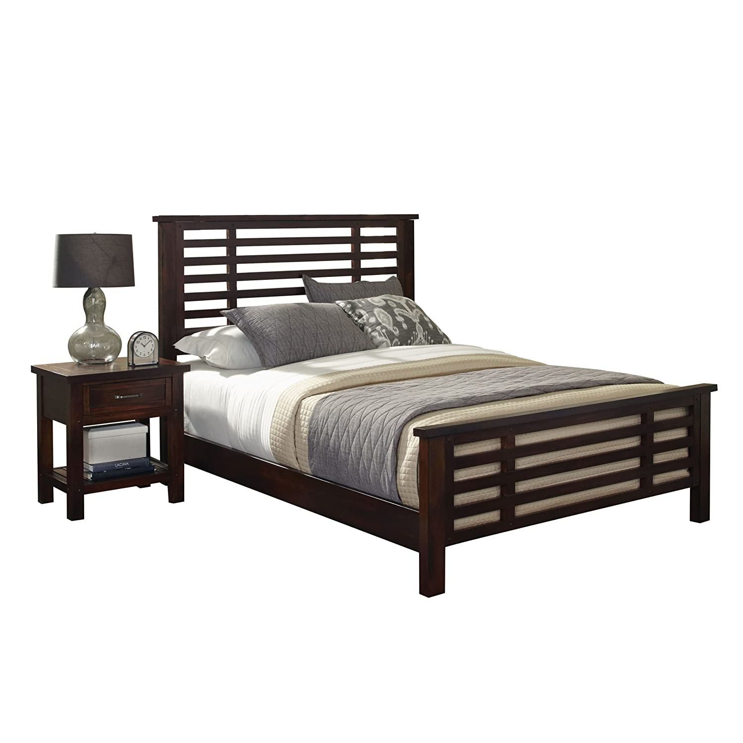 Home Styles Cabin Creek King Bed and Night Stand