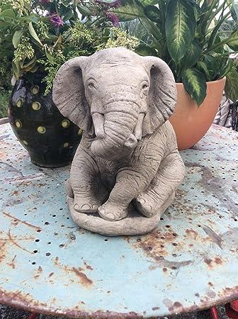 Charmant Large Stone Elephant Garden Ornament Statue