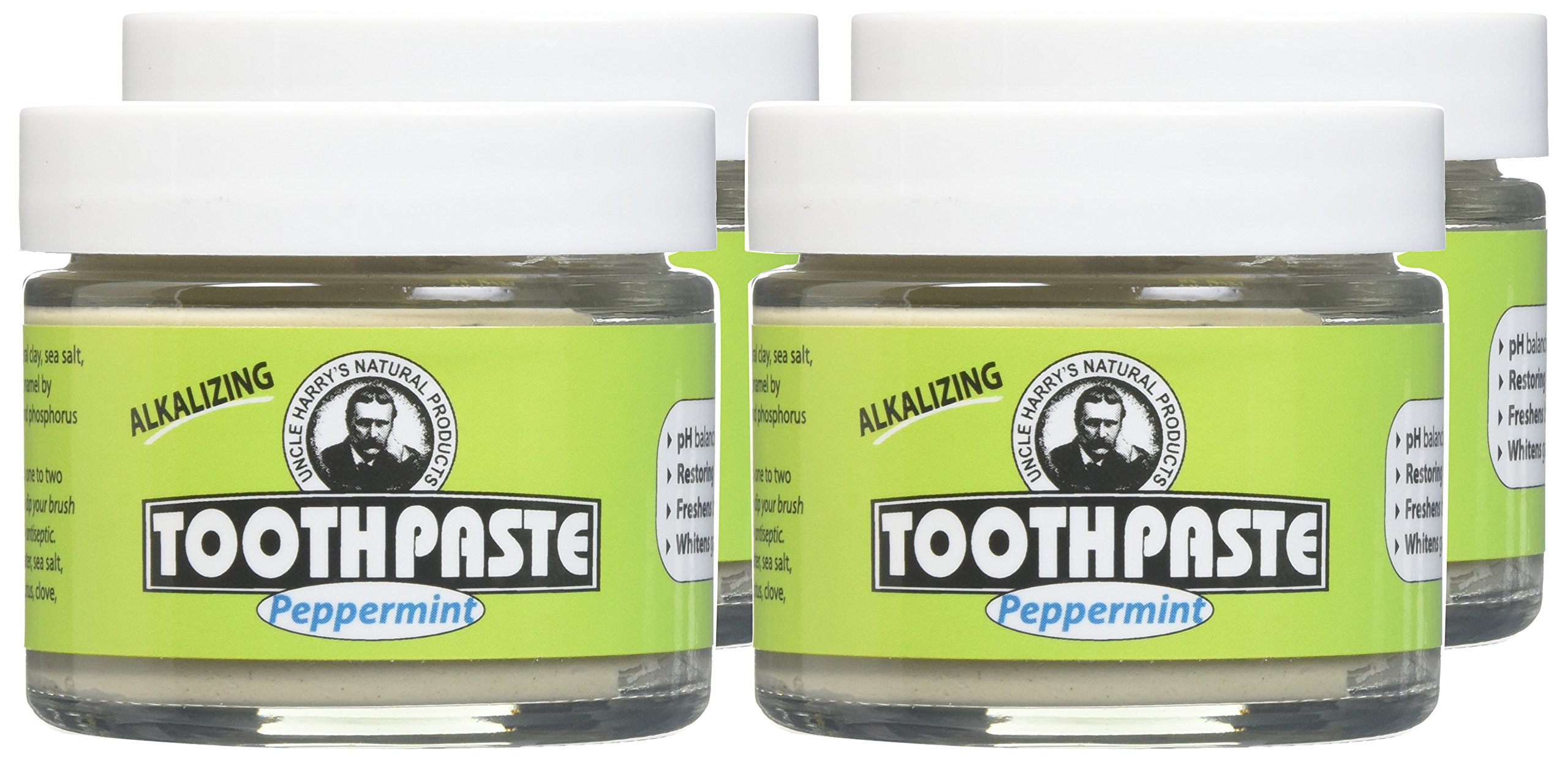 Uncle Harry's Fluoride Free Toothpaste - Peppermint (3 oz Glass jar) … (4) by Uncle Harry's Natural Products (Image #2)