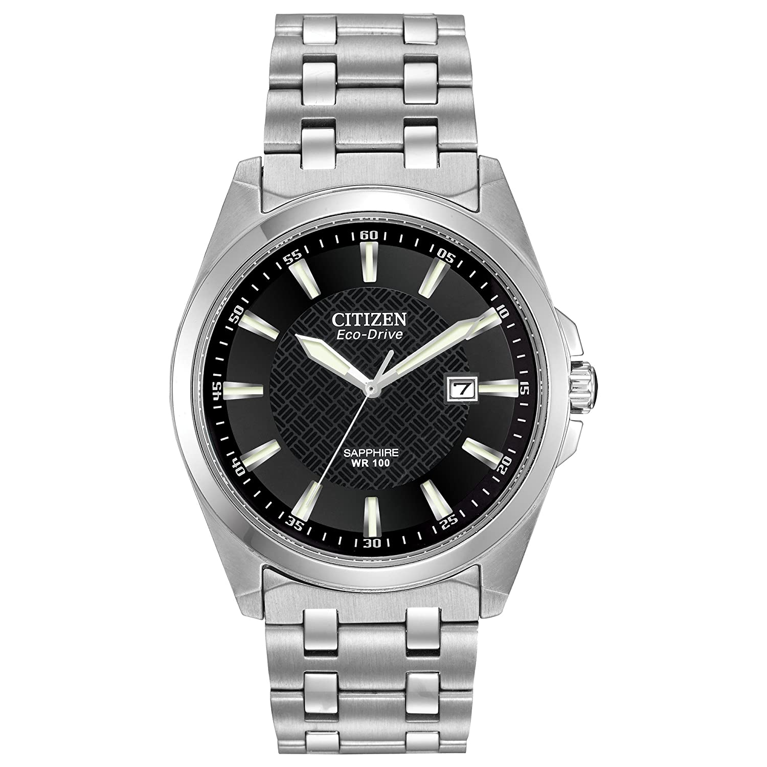 Amazon.com: Citizen Men's Eco-Drive Stainless Steel Dress Watch with Date,  BM7100-59E: Citizen: Watches