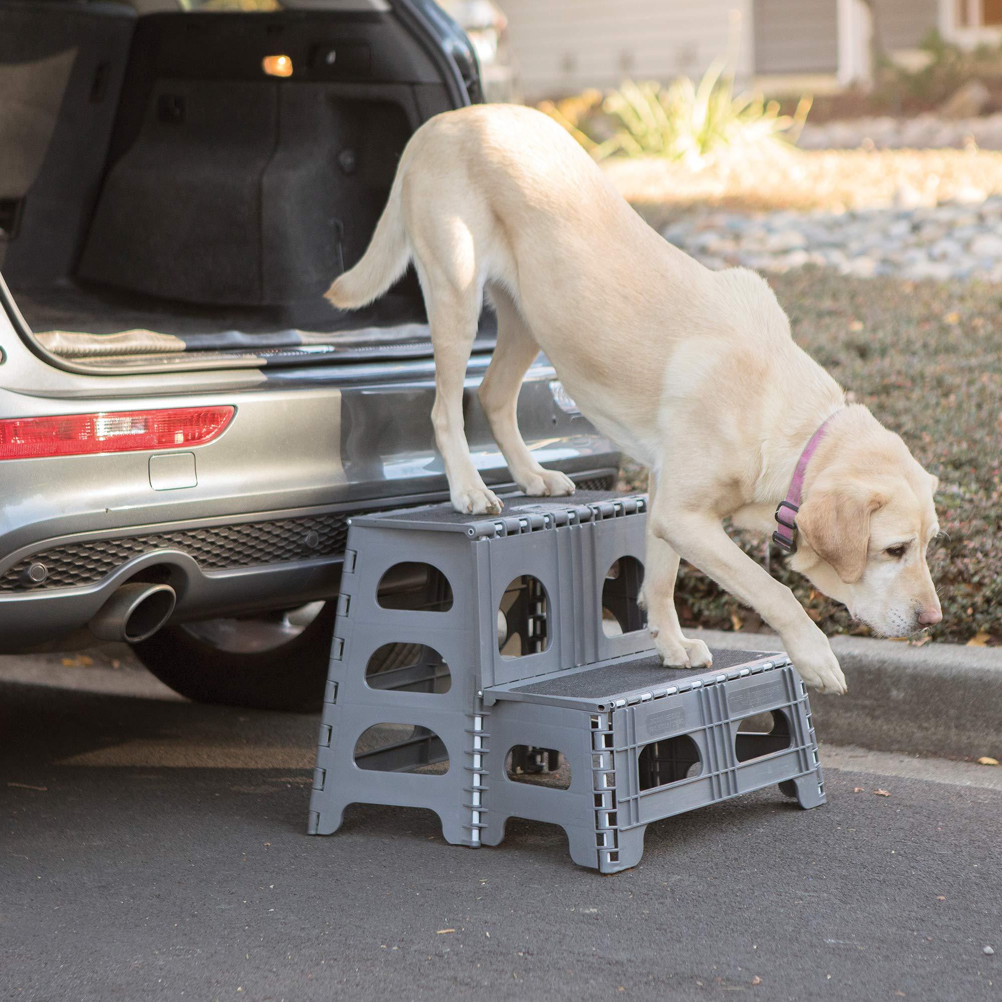 Petstep Gray Folding 2 Step Dog Assist by Range Kleen by Range Kleen