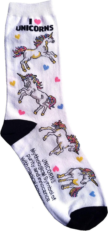 Gift Decor Made in USA Unisex Unicorn and Rainbows Socks Cute Women And Girls Unicorns Unicorn Socks Cool Custom Novelty Unicorn Lover