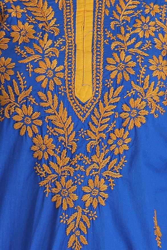 cf4fe517ed ADA Hand Embroidery Lucknow Chikankari Regular Wear Cotton Kurti A135582:  Amazon.in: Clothing & Accessories