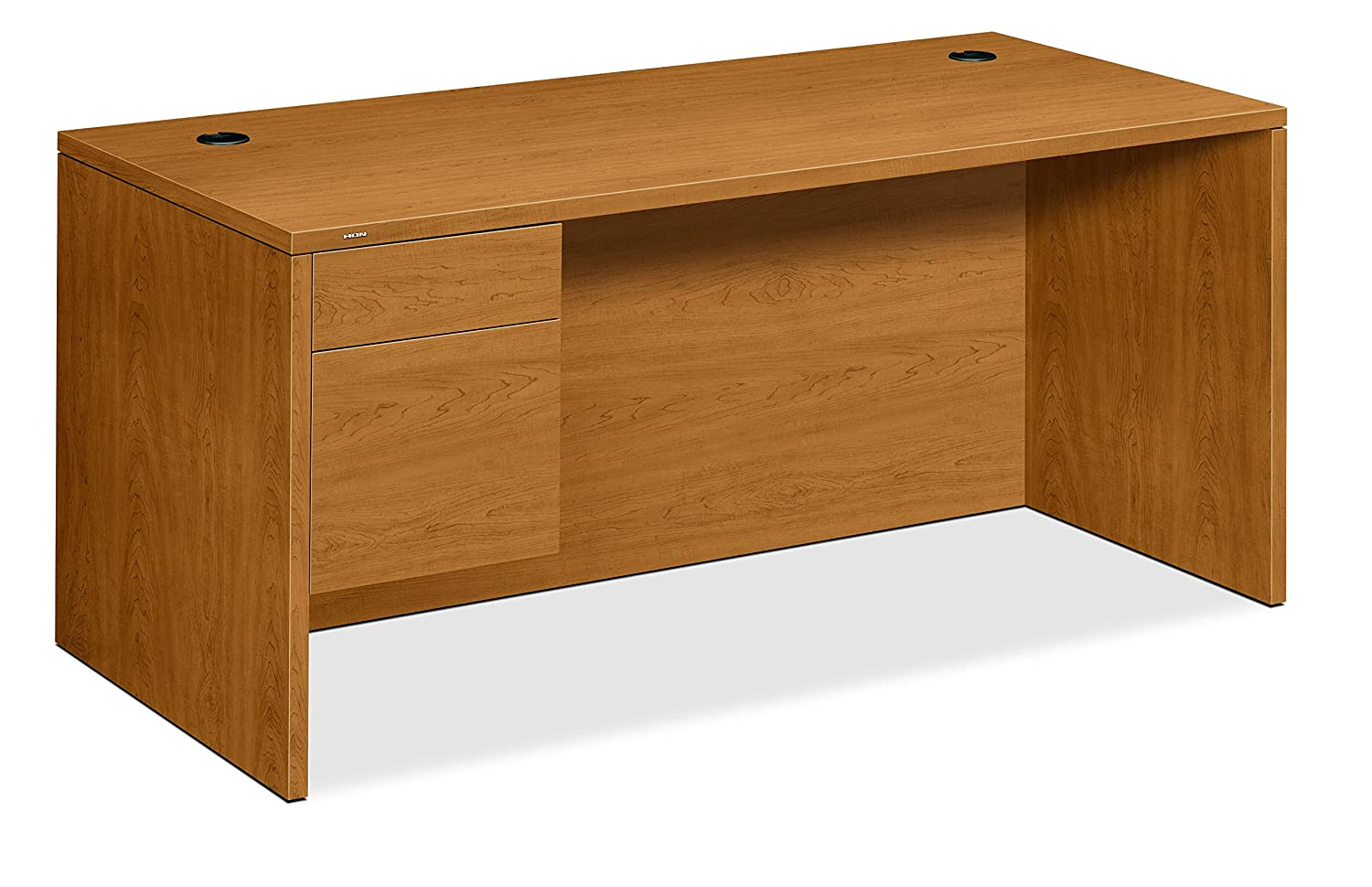 HON Bow Top Double Pedestal Desk, 72 by 36 by 29-1/2-Inch, Harvest S.P. Richards Company HON10595CC