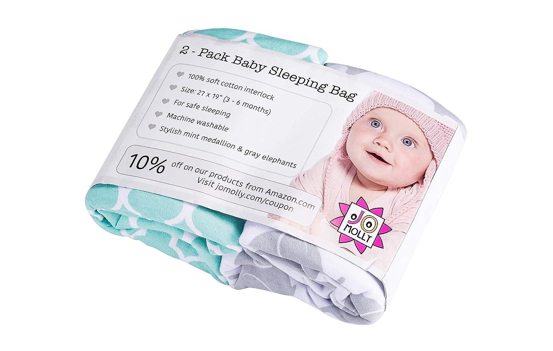 Jomolly Baby Jungen Schlafsack gr/ün Mint//Elephant 0-3 Monate