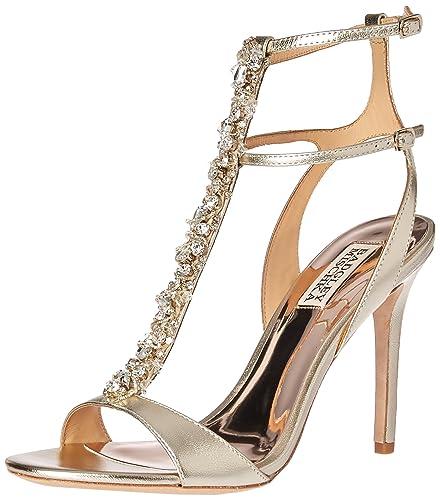 5d56f8ee45ff Amazon.com  Badgley Mischka Women s Hollow Heeled Sandal  Shoes