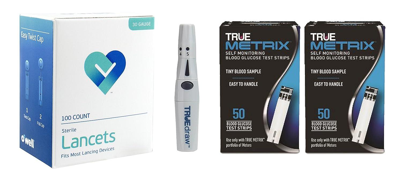 Amazon com: OWell TRUE Metrix Test strips + Lancing Device +
