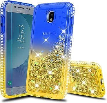 Black Flower Funda Protectora de TPU para Samsung Galaxy J5 Funda de Piel sint/ética con Tapa 3D con funci/ón Atril magn/ético para Tarjeta de identificaci/ón Tophung Funda para Samsung Galaxy J5 2017
