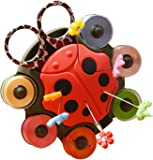 Ladybug Sewing Organizer by Smartneedle | A Beautiful Sewing Caddy that carries sewing bobbins, Scissors and it is a Pincushion as well | A Wonderful Gift for Every Art and Craft Lover
