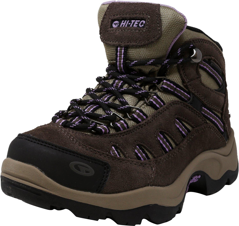 Hi-Tec Women Bandera Mid Waterproof Boots Dark Taupe/Viola Brown 6.5