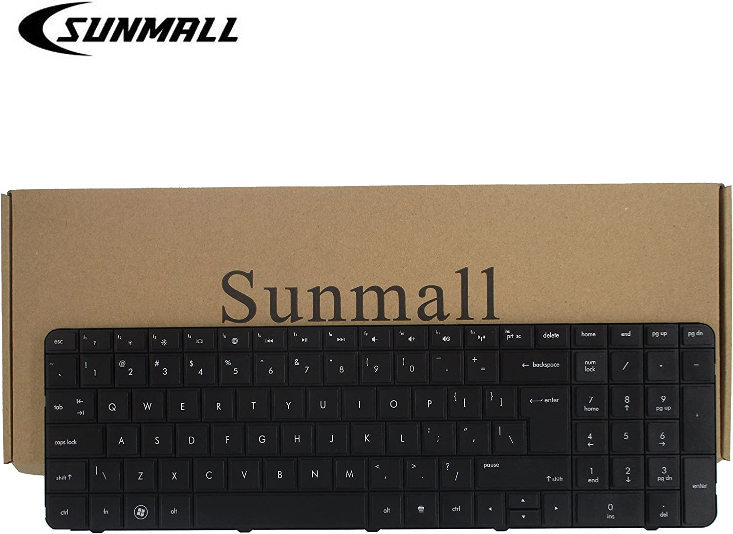 SUNMALL Laptop Keyboard with Big Enter for HP Pavilion G7 G7T R18 g7-1000 G7T-1000 G7-1100 G7-1150 G7-1200 G7-1310 Series g7-1219wm g7-1330ca g7-1329wm g7-1355dx g7-1260us Black US Layout