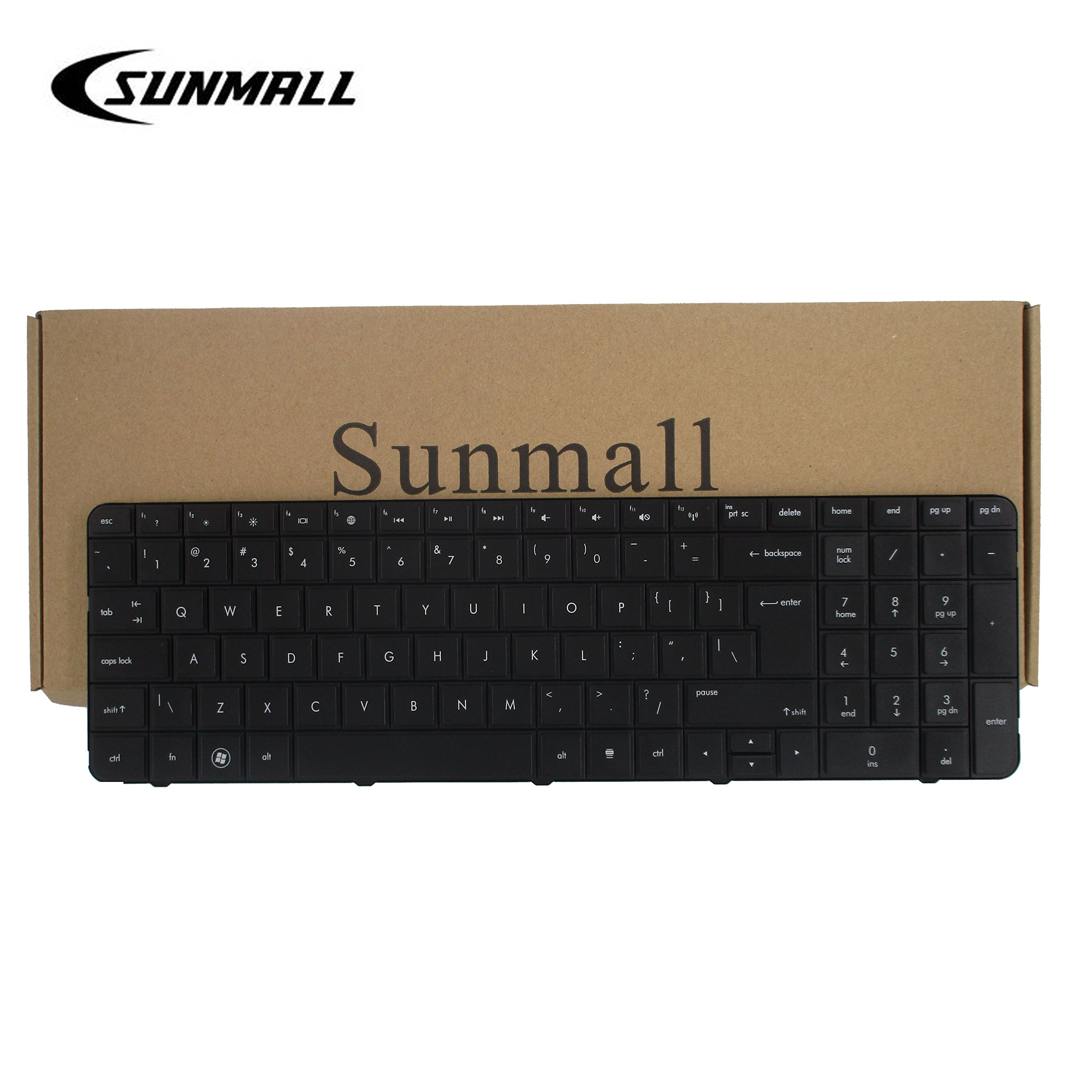 SUNMALL Laptop Keyboard with Big Enter for HP Pavilion G7 G7T R18 g7-1000 G7T-1000 G7-1100 G7-1150 G7-1200 G7-1310 Series g7-1219wm g7-1330ca g7-1329wm g7-1355dx g7-1260us Black US Layout(6 Months Wa