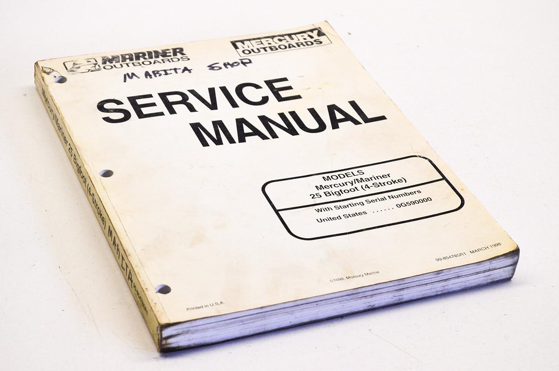Amazon.com: Mercury 90-854785R1 Service Manual 25 Bigfoot 4-Stroke QTY 1:  Automotive