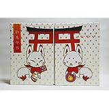 【京都観光】稲荷・きつねさん柄の御朱印帳 麗聲堂オリジナル・見開き柄 (11×16cm Mサイズ)