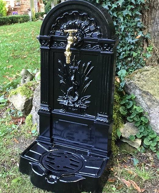 Antikas - un fuente de jardín - serpiente - fuente antigua - fuente en negro: Amazon.es: Jardín