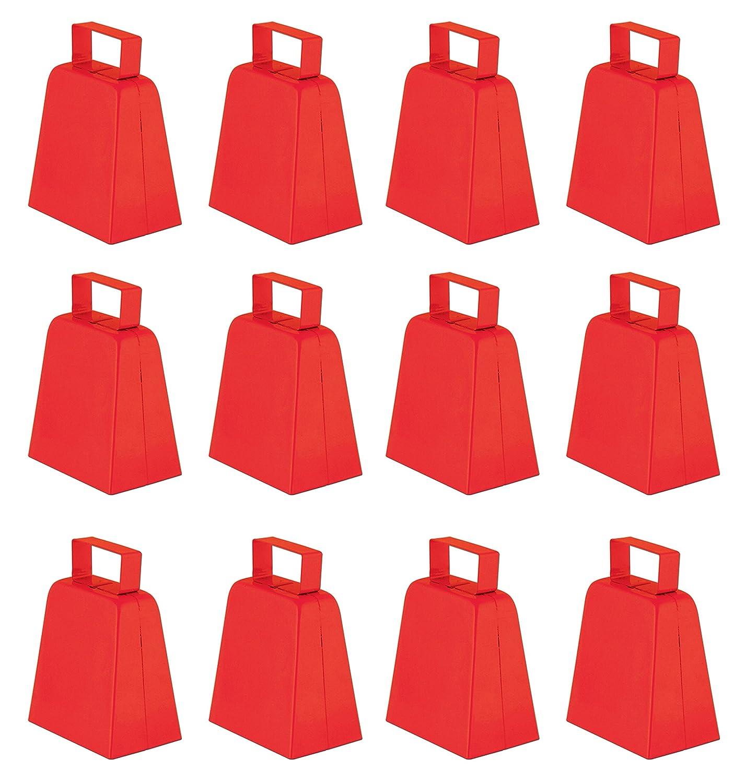 Beistle 12-Pack Cowbells, 4-Inch, Black 60939-BK