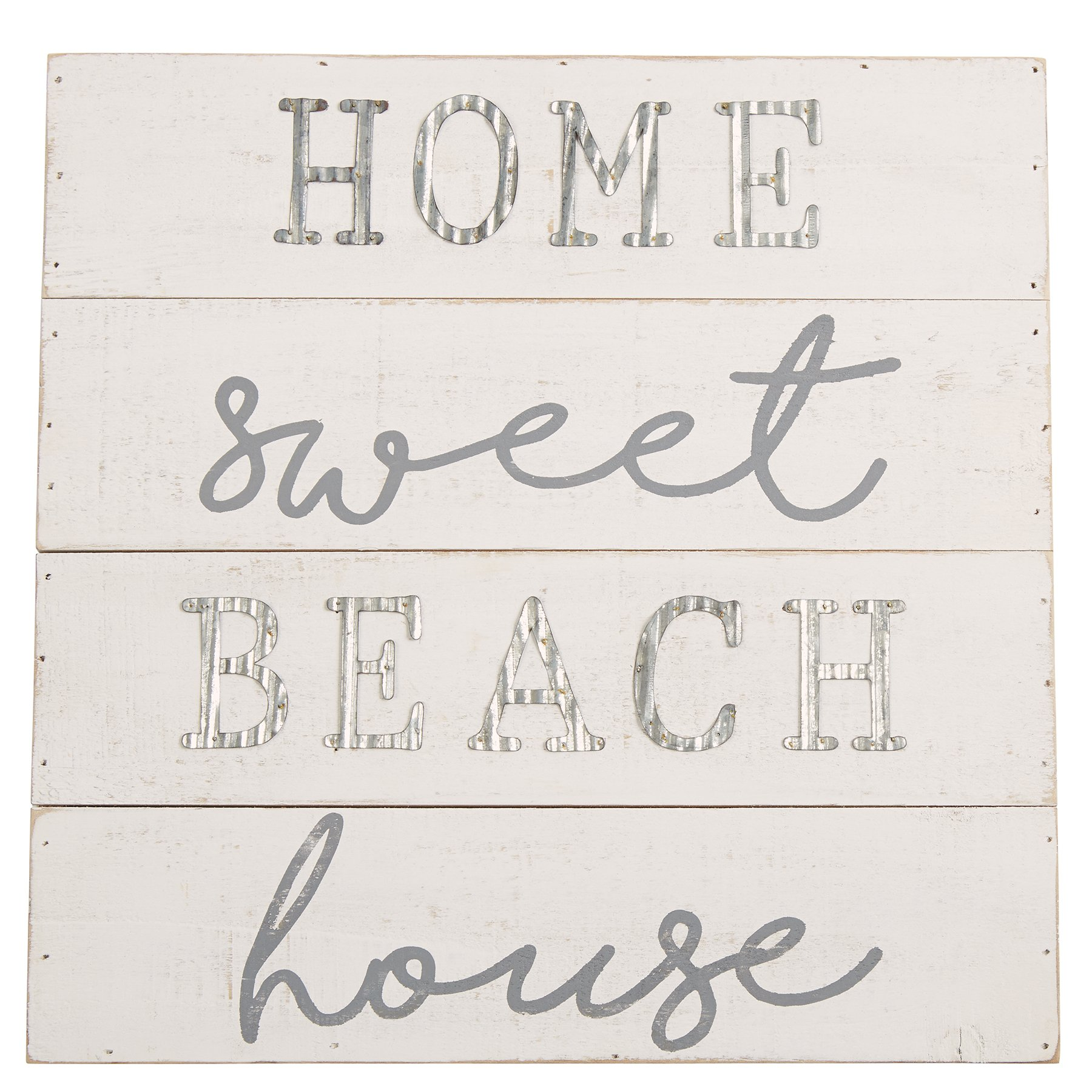 Mud Pie 4345161 Planked Wood Plaque Home Sweet Beach House
