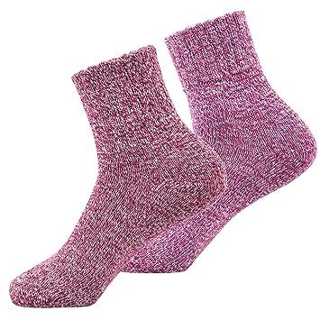 Calcetines de lana tejidos ideales para invierno, súper cálidos, hechos de algodón súper grueso