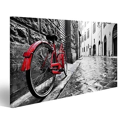 Islandburner Quadro Moderno Bicicletta Rossa Vicolo Stampa Su Tela
