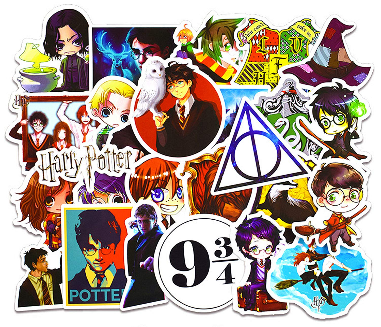 Stickers Calcos 50 un. Harry Potter Origen U.S.A. (7R558N41)